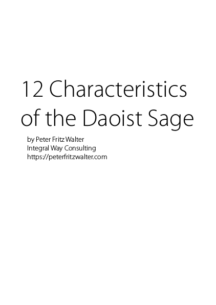 12 Characteristics of the Daoist Sage