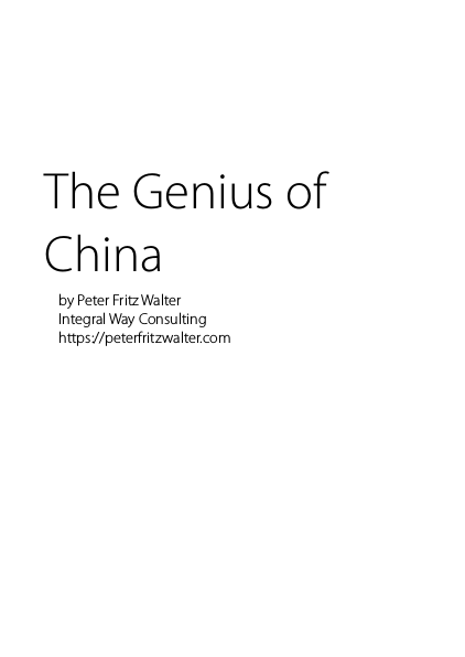 The Genius of China