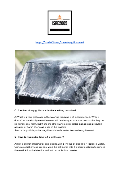 Frequently Asked Questions About Cleaning Barbecue Covers