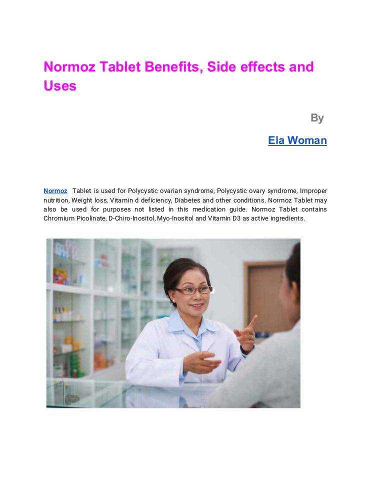 Best Normoz Tablet Benefits, Side effects and Uses | edocr