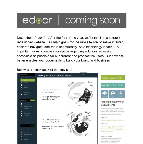 Coming soon to edocr