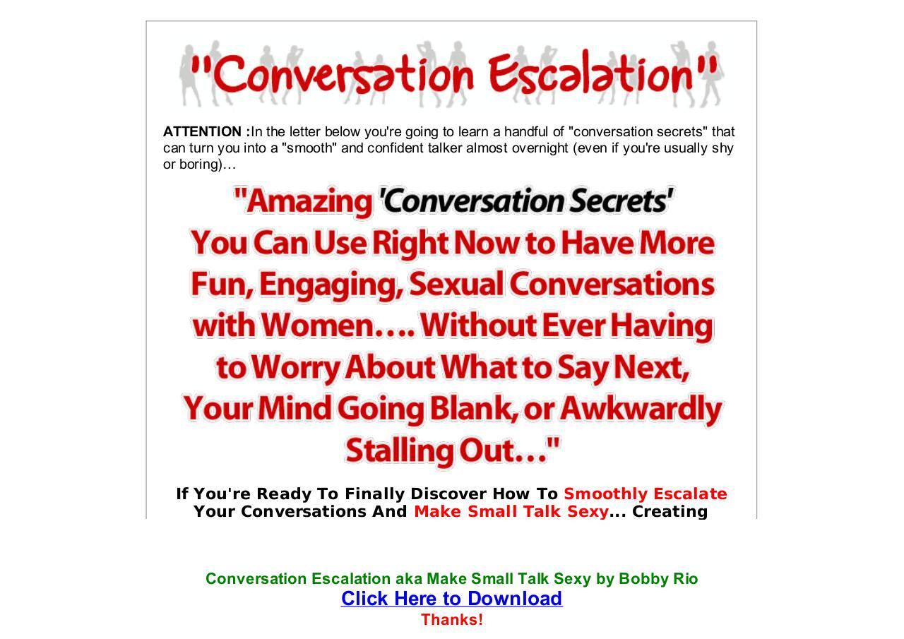 Conversation Escalation Free PDF Download   edocr