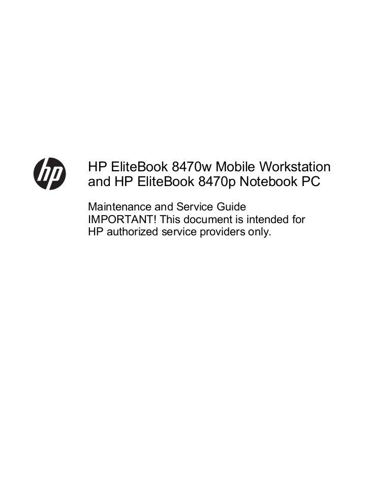 HP EliteBook 8470P Service Guide | edocr