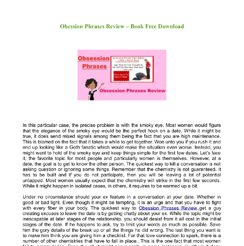 Obession Phrases Review – Book Free Download | edocr