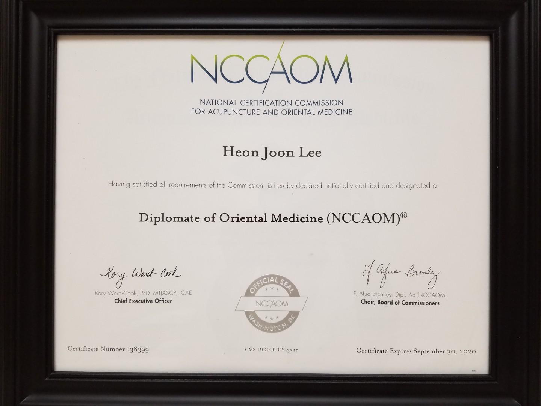Diplomat of Oriental Medicine