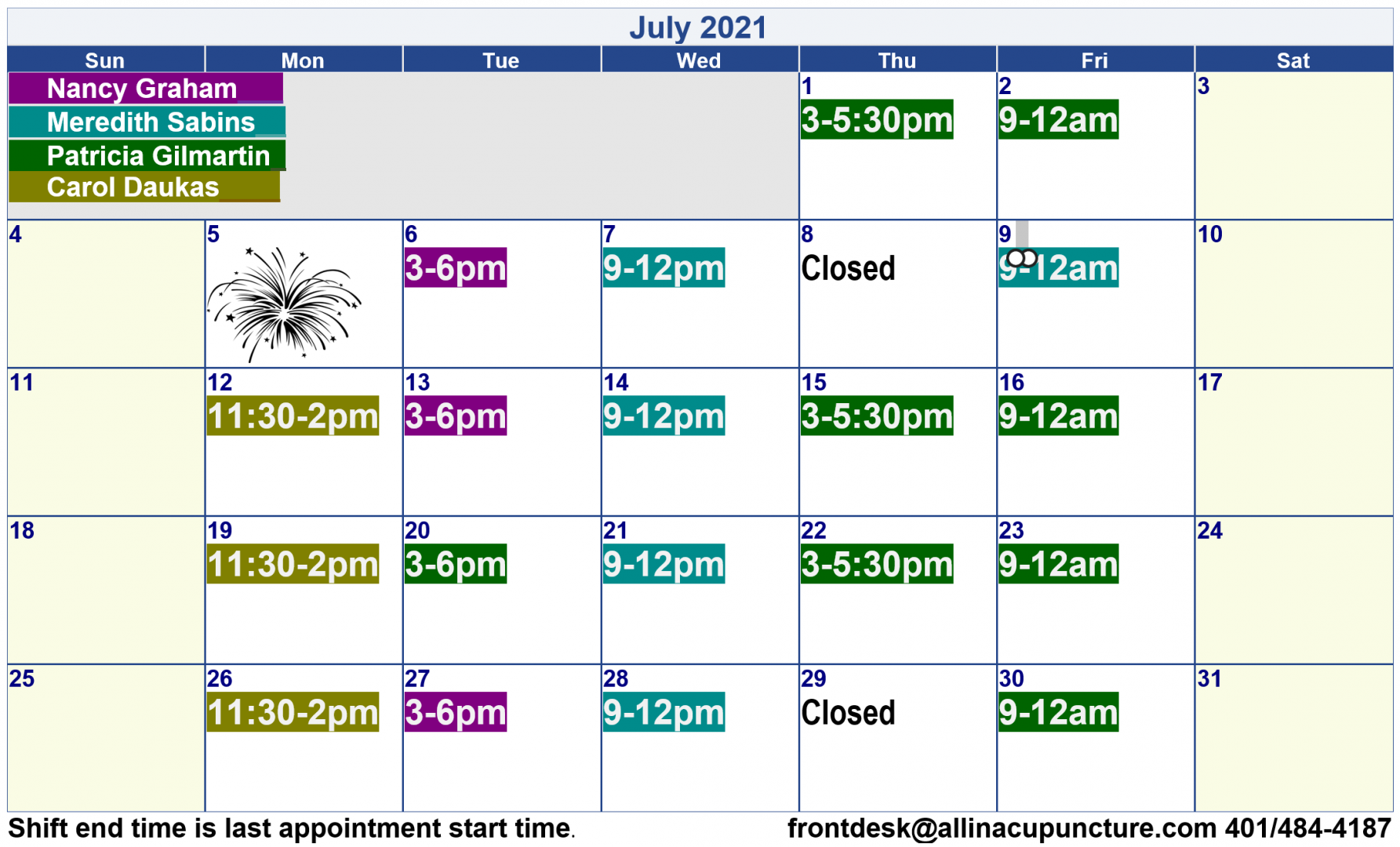 Hours and prices - All In Community Acupuncture in South County, Rhode Island
