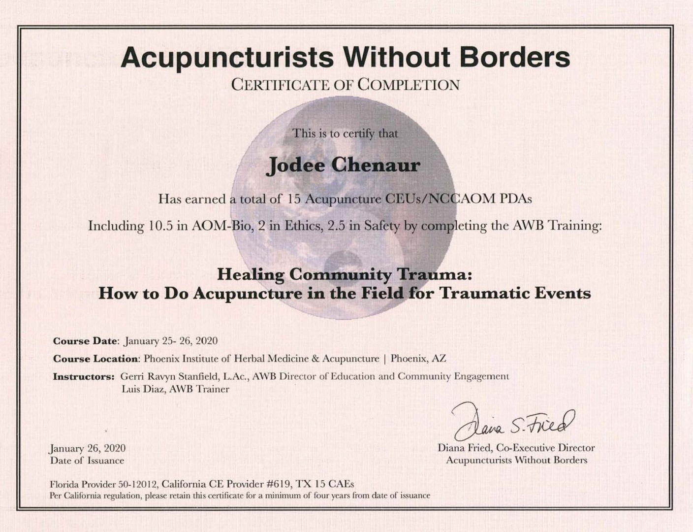ACUPUNCTURISTS WITHOUT BORDERS, Four Seasons Acupuncture in Sun City, AZ