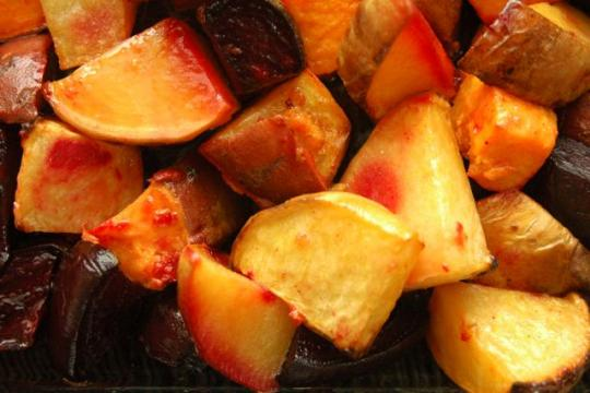 Roasted Rutabagas and Beets,