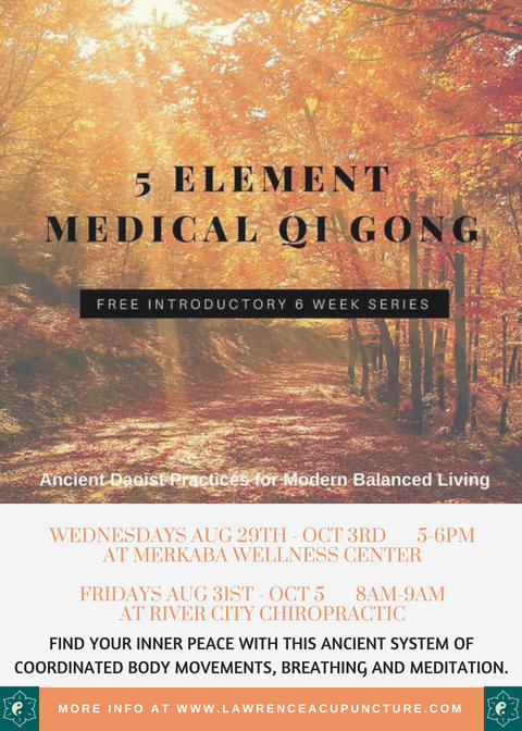 Lawrence Acupuncture 5 Element Medical Qi Gong - Free Series