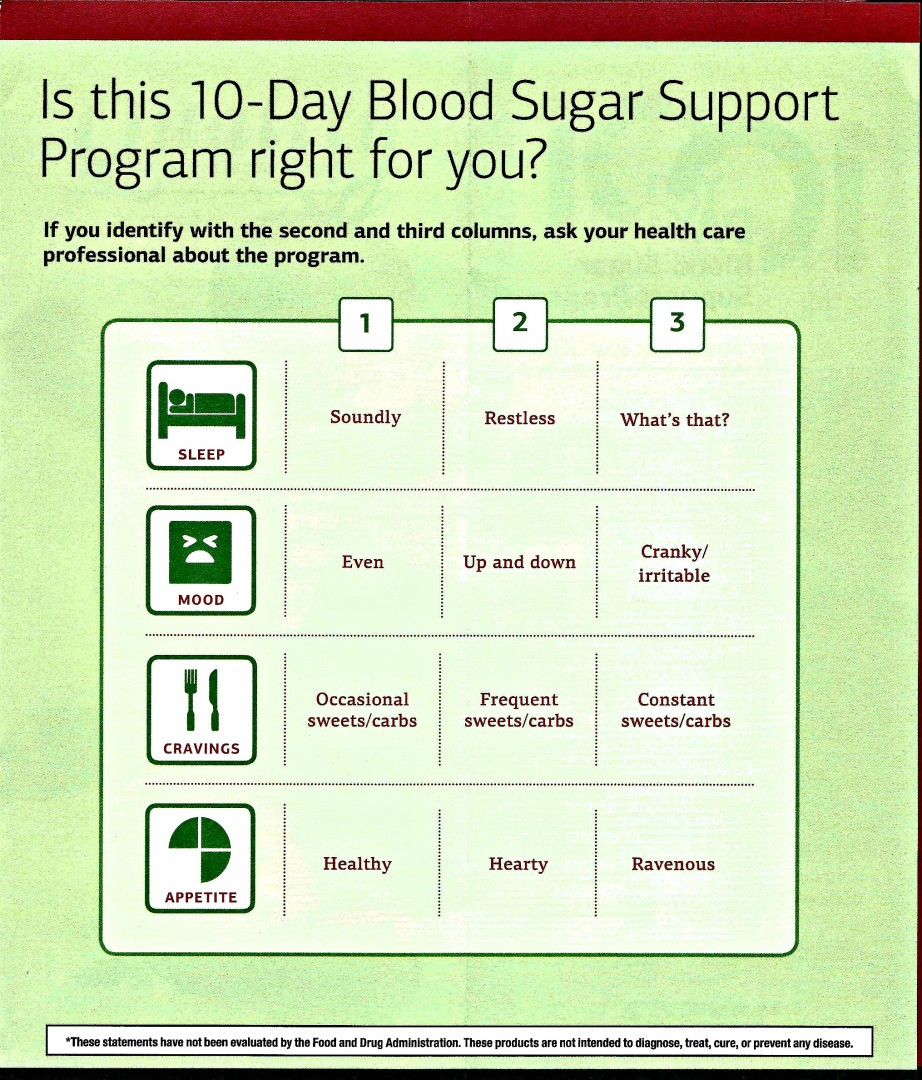 10 Day Blood Sugar Program - Lawrence Acupuncture in Lawrence, KS