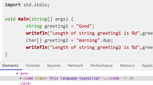 Highlight.js guessed TypeScript