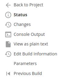 Jenkins Task Console Output Menu Link