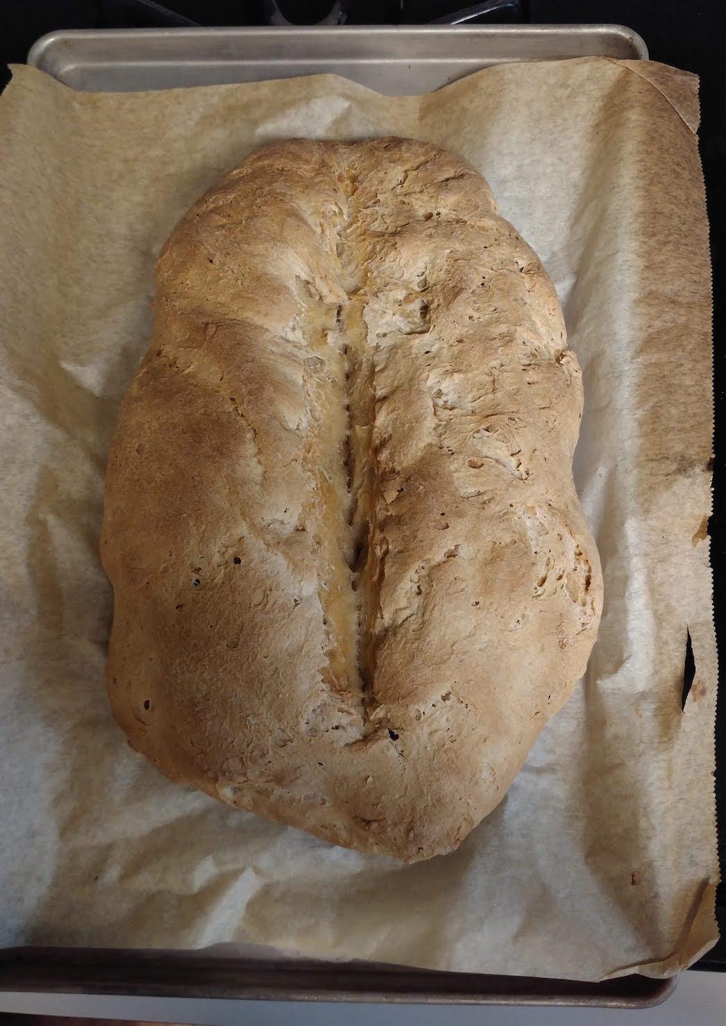light-colored loaf