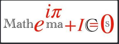 "logo incorporating formula into word ""mathematics"""