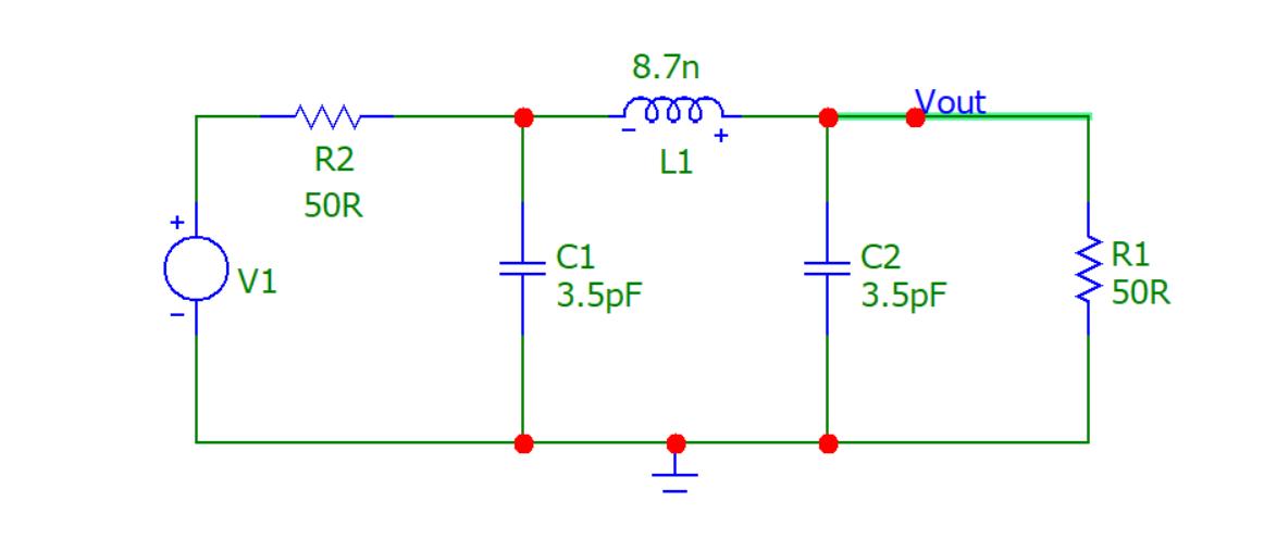 simple low pass pi filter