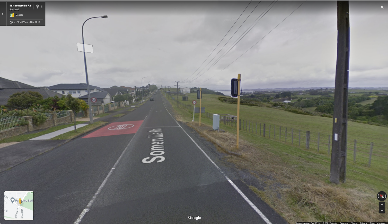 Sceenshot of google street view of Somerville Rd