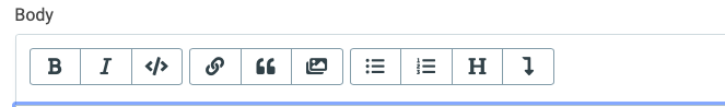 Current design of buttons when editing a post