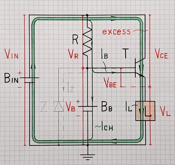 Charged battery backup voltage regulator