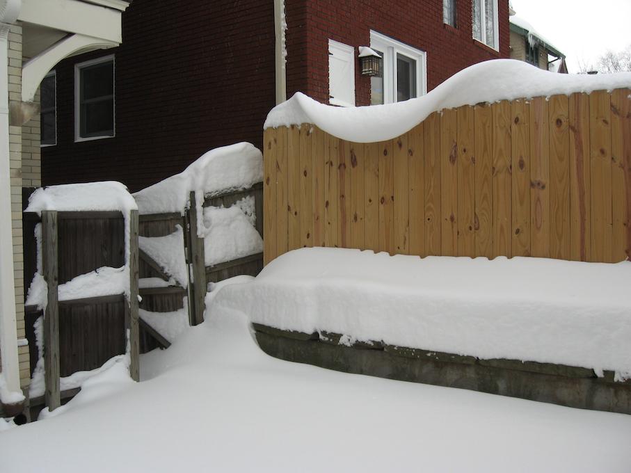sin wave, sort of, in snow