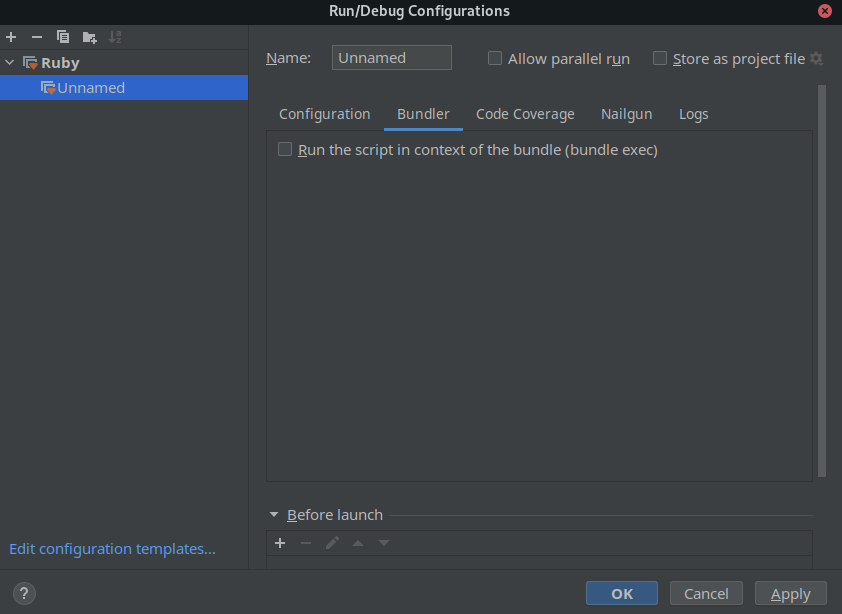 compiler configuration