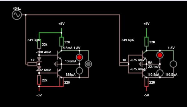 LED indicator - simulation