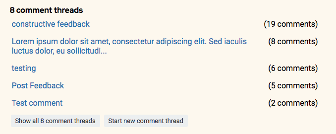 says 8 comment threads