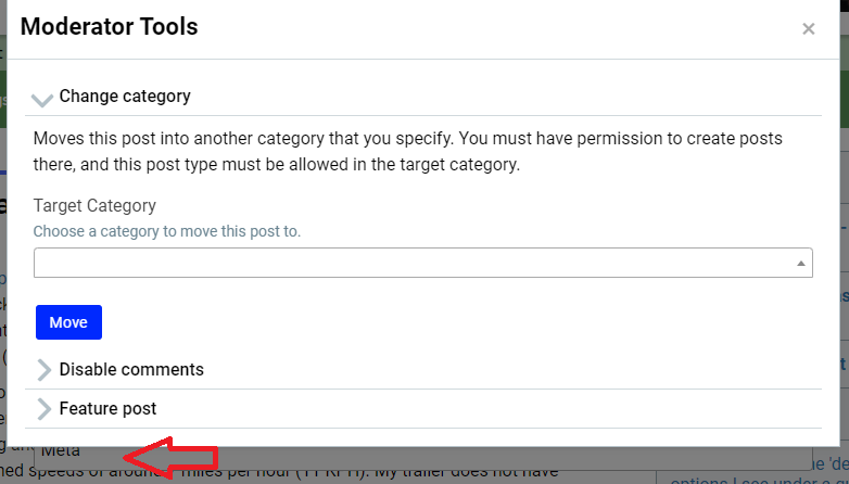 Modal form hiding the category dropdown