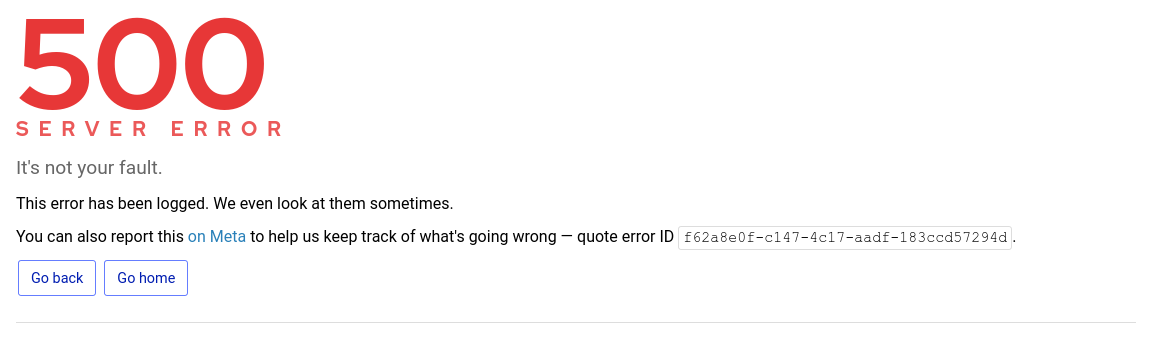 Screenshot of the error page.