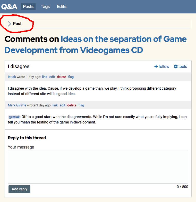"screenshot showing ""post"" expander"