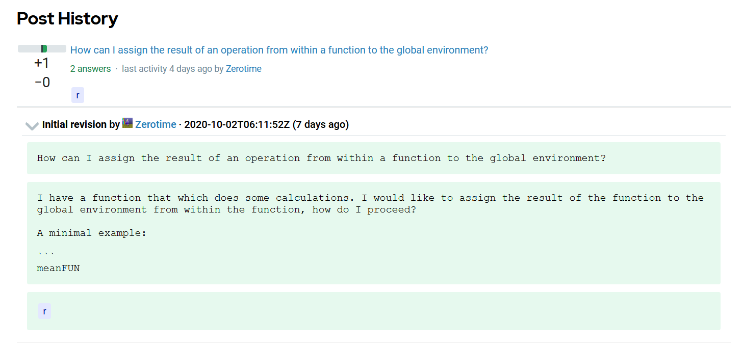 history of question on Software Development