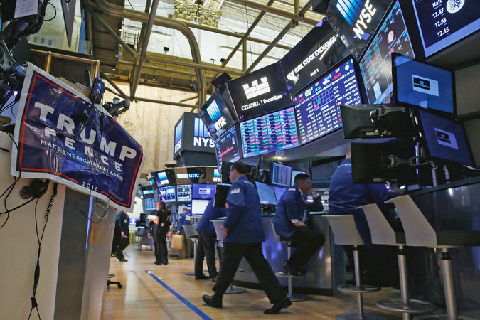 The floor of the New York Stock Exchange on the morning after the United States presidential election