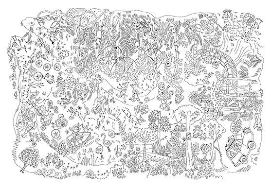 Oia! ideas para chicos | Laminas Gigantes para Pintar