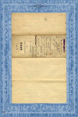 (PAGES 1-2) 1931 Deed, C.C. Wyatt & Ed Gardner to Charles Wyatt, Jr., Graves County, Kentucky