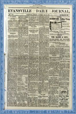 (PAGES 1-2) May 2, 1874 Evansville Daily Journal, Evansville, Indiana