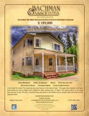 315 S. Main Street 2 Page Brochure