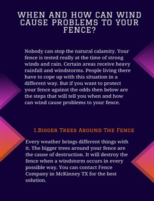 When and how can wind cause problems to your fence