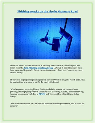 Phishing attacks on the rise by Oakmere Road