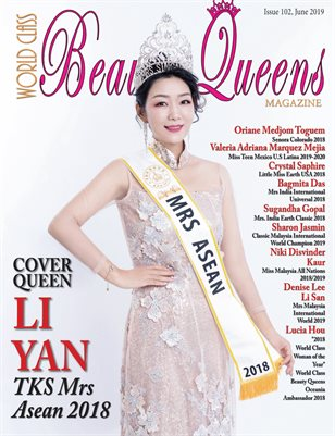 World Class Beauty Queens Magazine Issue 102 with Li Yan