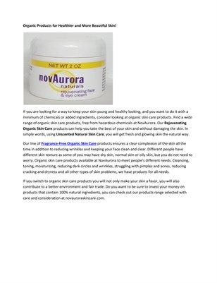 Fragrance-Free Organic Skin Care