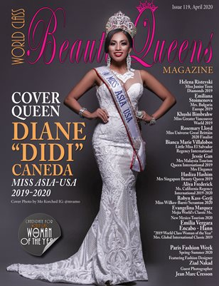 "World Class Beauty Queens Magazine Issue 119, with Diane ""Didi"" Caneda"