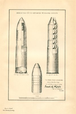 1877 AMMUNITION FOR THE HOTCHKISS REVOLVING CANNON