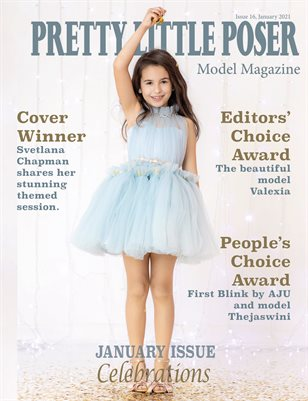 Pretty Little Poser Model Magazine - Issue 16 - Celebrations - January 2021