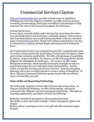 Commercial Services Clayton