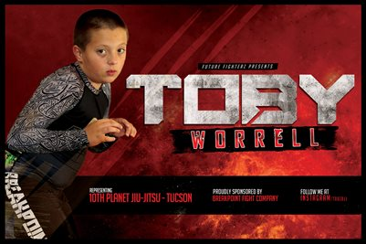 Toby Worrell Red Streak Poster