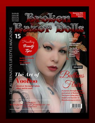 BROKEN RAZOR DOLLS (THE ALTERNATIVE LIFESTYLE MAGAZINE) JAN 2016