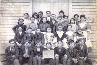Thackeray School, Nov. 15, 1907 Oakley Irwin, Teacher, McLeansboro, Illinois