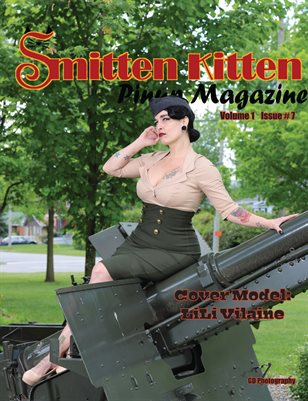Smitten Kitten Pinup Magazine Cover 2 LiLi Vilaine July 2020