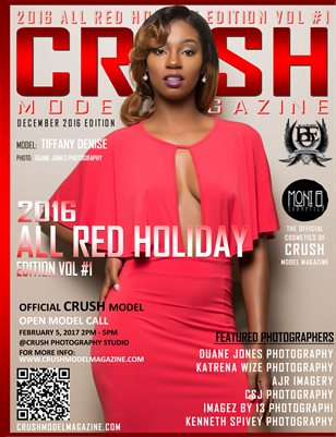 CRUSH MODEL MAGAZINE 2016 ALL RED HOLIDAY EDITION VOL #1