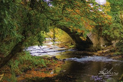 """Autumn at Clondegad Bridge, County Clare, Ireland"" Poster"