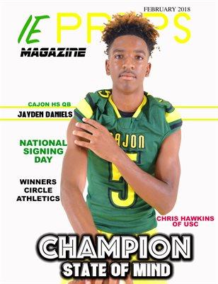 IE Preps Magazine February 2018 Jayden Daniels Cover